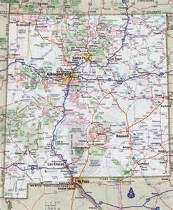 Nm State Map by Large Detailed Roads And Highways Map Of New Mexico State