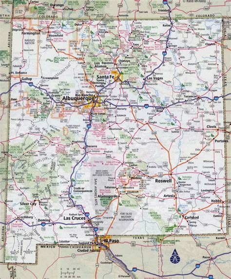 maps of new mexico large detailed roads and highways map of new mexico state