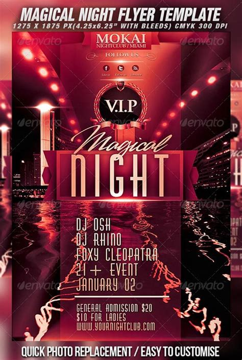 template flyer graphicriver graphicriver magical night flyer template