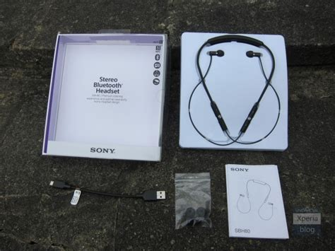 Headset Bluetooth Sony Sbh80 sony sbh80 stereo bluetooth headset review xperia
