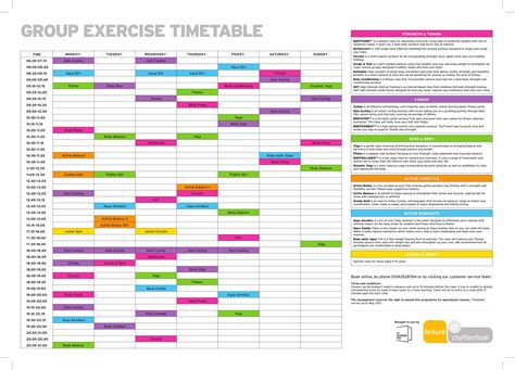 Upm Mba Timetable by Timetable Leisure At Cheltenham