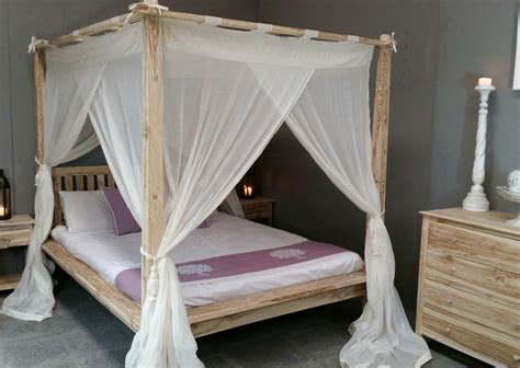 net bed balinese rumple four poster bed canopy muslin mosquito net