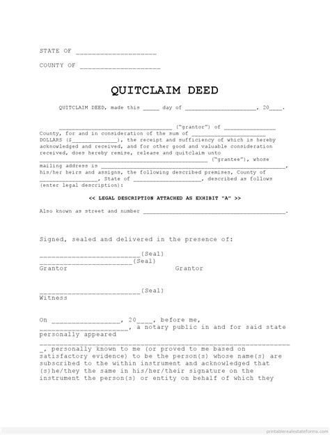 free printable quit claim deed for new york free printable quit claim deed georgia