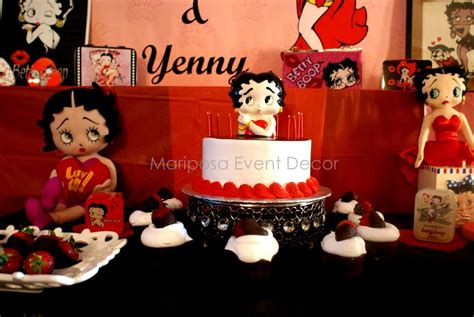 Betty Boop Decorations by Betty Boop Birthday Ideas Photo 8 Of 8 Catch