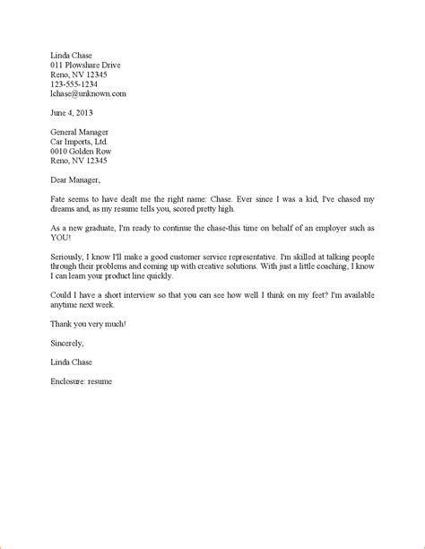 Customer Service Cover Letter Examples