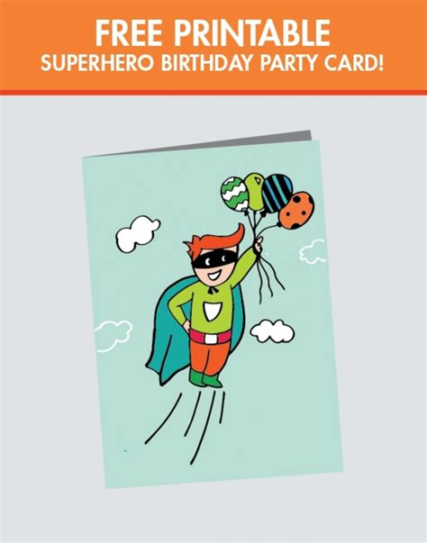 free printable birthday cards brother a superhero birthday party for a super boy printable