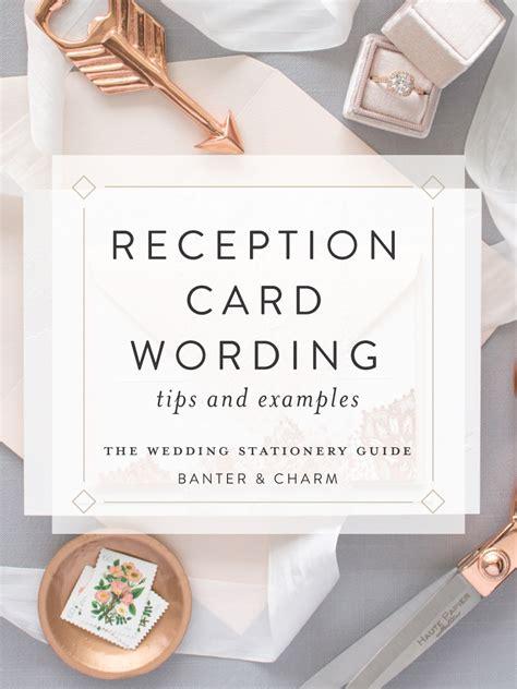 wedding invitation wording for registry office wedding stationery guide reception card wording sles