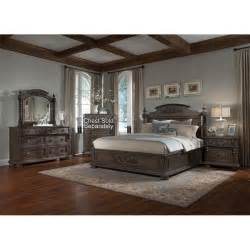 versailles pewter brown 6 cal king bedroom set