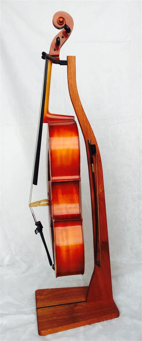 Cello Rack by Wooden Cello Stand Cherry Maple Mahogany Or Walnut By