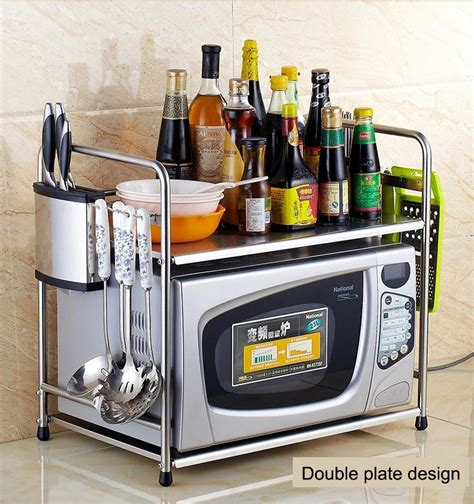 Microwave Oven With Metal Rack by Free Shipping Stainless Steel Kitchen Microwave Oven Shelf