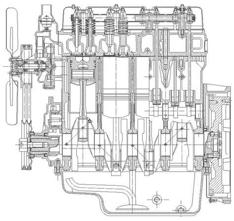 engine cross section 4 stroke engine cross section engine diagram and wiring