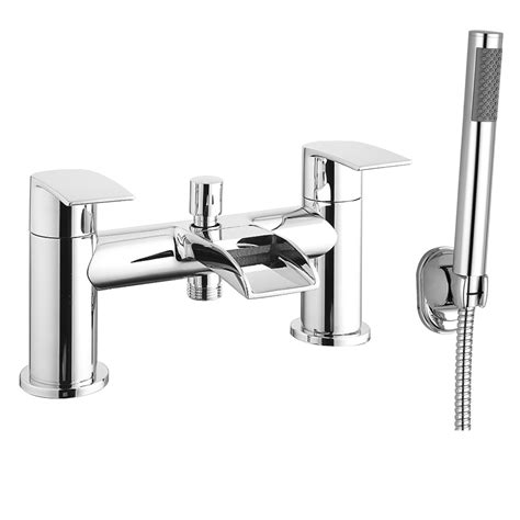 waterfall bath taps with shower enzo waterfall bath shower mixer taps at