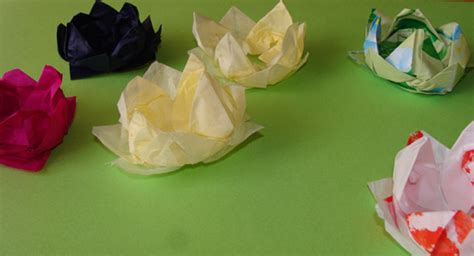 lotus flower paper craft lotus flower crafts