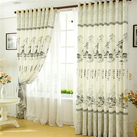 asian curtain customize high quality light grey asian curtains