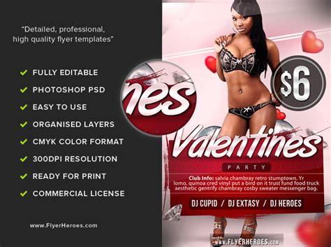 free valentine s flyer template flyerheroes