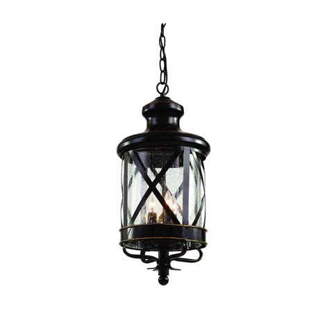 Carriage House Lighting Fixtures Bel Air Lighting Carriage House 3 Light Outdoor Rubbed Bronze Hanging Lantern With Seeded