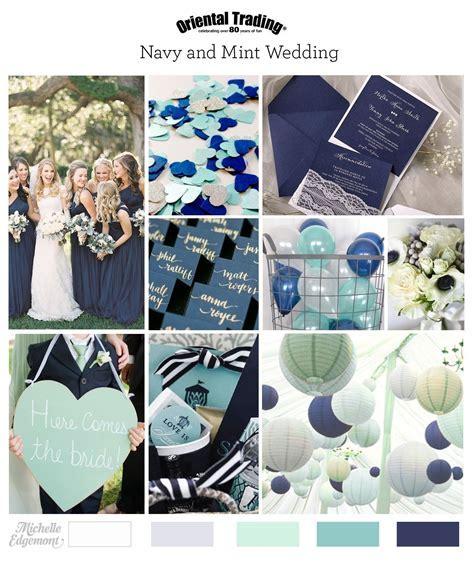 Navy and Mint Wedding Inspiration   Marine Wedding   Navy