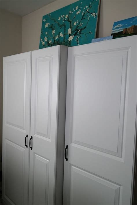 wardrobe cabinet lowes how i optimize wide closets with a single door jen