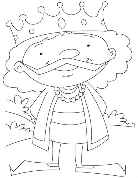 pages king a king coloring pages free a