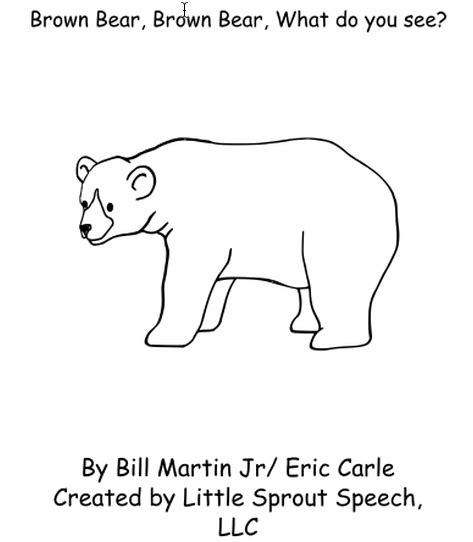 Brown Bear What Do You See Coloring Pages Book Covers Brown Brown What Do You See Coloring Pages