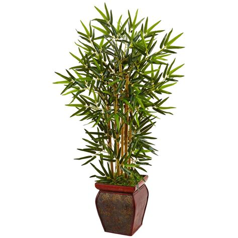 decorative fake trees for the home nearly natural indoor bamboo artificial tree in wooden