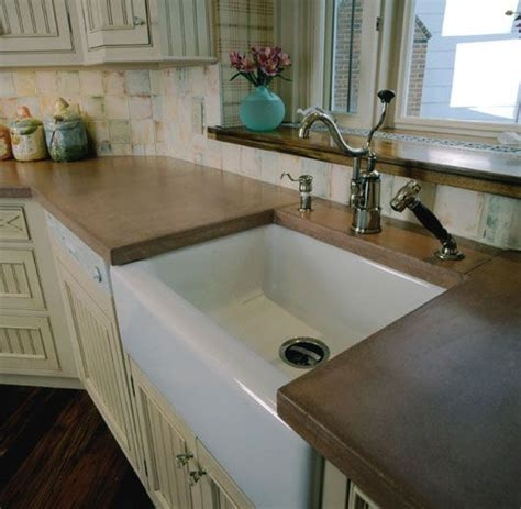 Farmhouse Kitchen Countertops by Concrete Counter Counter Tops And Farmhouse Style On