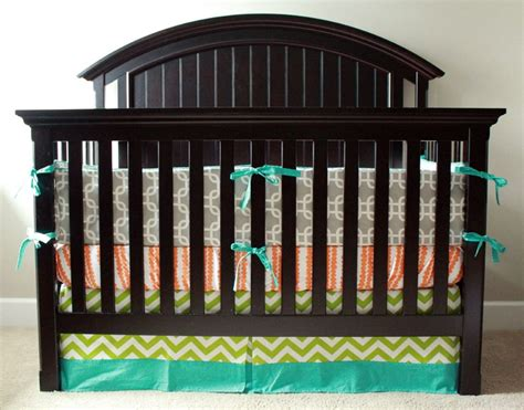 Turquoise And Orange Crib Bedding Orange Nursery Bedding Crib Bedding Turquoise Orange Lime Green And By Gigglesixbaby I M