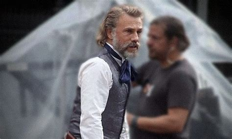 quentin tarantino film auditions christoph waltz spotted on set for quentin tarantino s