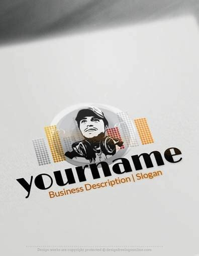 Design Free Logo Dj Online Logo Templates Photoshop Dj Logo Templates