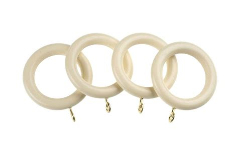 cream wooden curtain pole universal 35mm cream wooden curtain pole rings