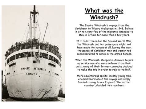 letter of explanation a powerpoint to help explain the windrush by justine7 1395