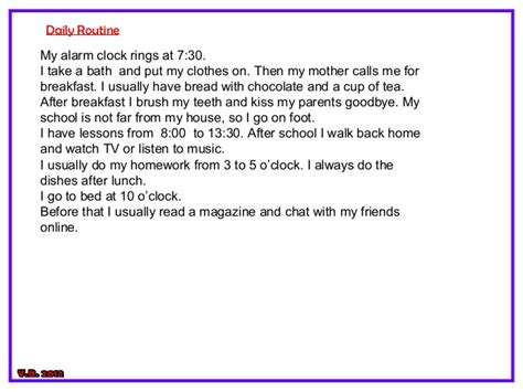 My Routine Day Essay by Essay On My Daily Routine In