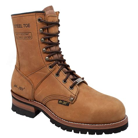 adtec boots adtec 9 quot steel toe logger s boot ebay