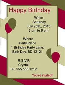 Happy Birthday Flyer Template by Doc 454500 Happy Birthday Word Template Happy Birthday