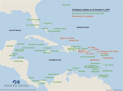 the latest caribbean cruise changes from hurricanes maria