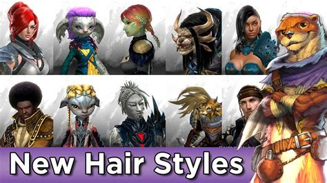 guild wars 2 hairstyles new hairstyles july 2016 all races male female guild