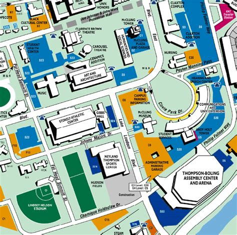 utk map parking map for thompson boling arena of tennessee official athletic site