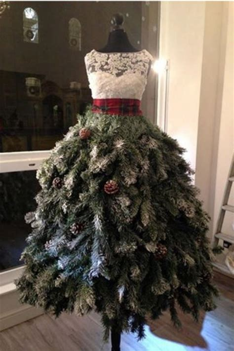 best way to dress a christmas tree 46 fashion inspired trees made from dress forms style estate