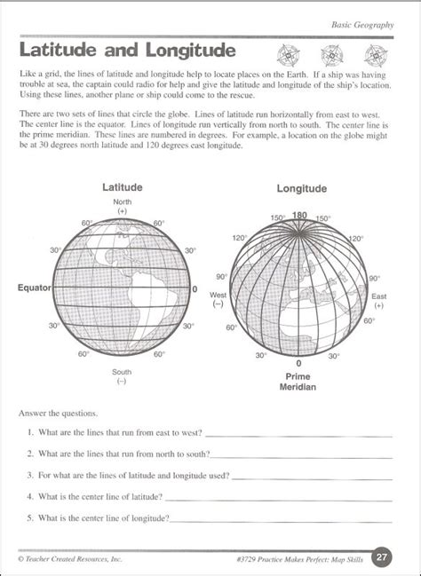 Grade 4 Map Skills Worksheets by Map Skills Grade 4 Pmp 008697 Details Rainbow