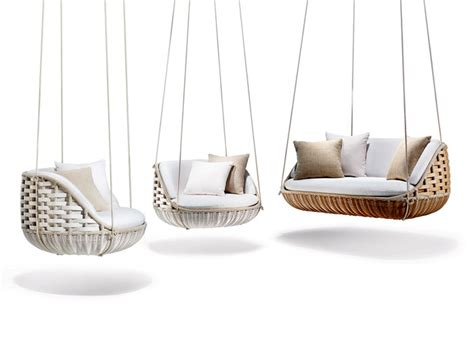 outdoor furniture swing chair modern outdoor furniture and shadings from salone mobile 2014 interiorzine