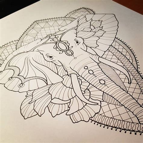 tattoo elephant sketch art elephant tattoo sketch on instagram