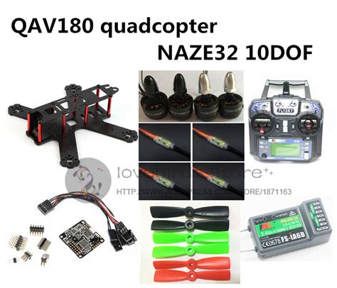 Rtf Qav210 Frame Kit diy fpv qav180 rc cross race quadcopter mini drone kit
