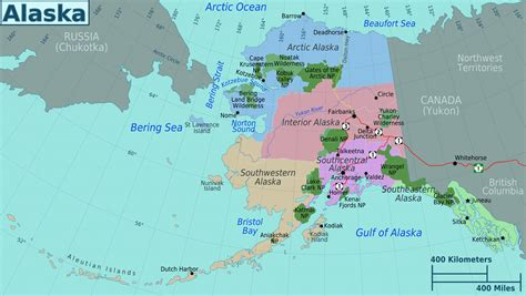 where is alaska on the united states map large regions map of alaska state alaska state usa