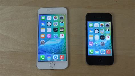 iphone 6 ios 9 beta vs iphone 4s ios 9 beta app opening speed test 4k