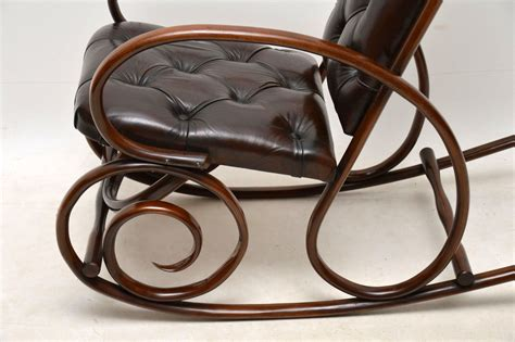 antique bentwood leather rocking chair by thonet antique bentwood leather rocking chair by thonet