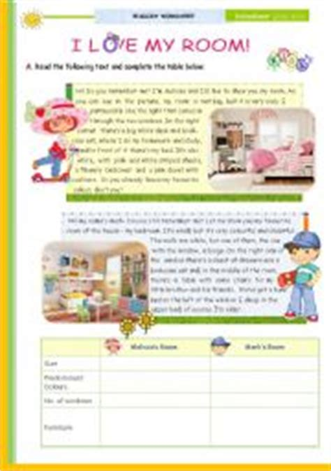 Bedroom Description Exercises Quot I My Room Quot 1st 45 Minute Lesson Of 2 And 3rd On