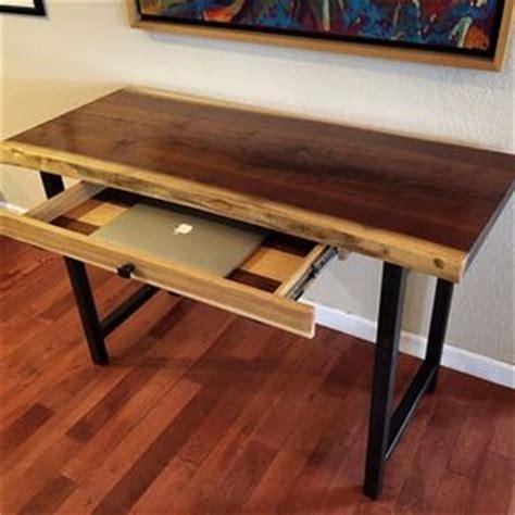 live edge computer desk buy handmade live edge furniture live edge blackjack oak