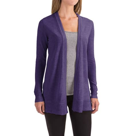 Cardigan Sweater Wanita Purple Knitted 328017 max studio cashfeel cardigan sweater for save 30