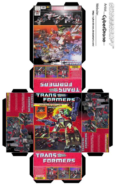 templates for toy boxes mini fortress maximus toy box by cyberdrone on deviantart