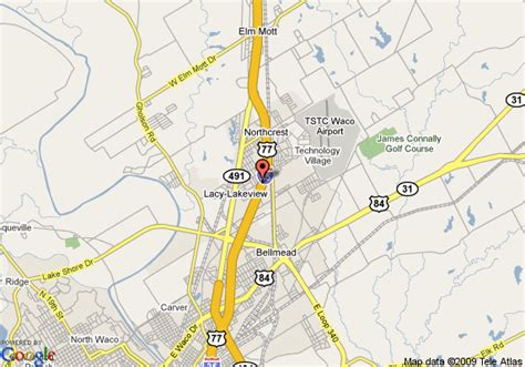 where is waco texas located on the map map of hton inn waco waco